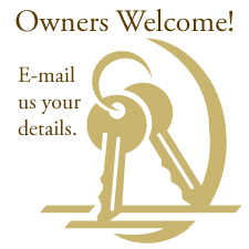 Vacation rental owners welcome to email us their destination details